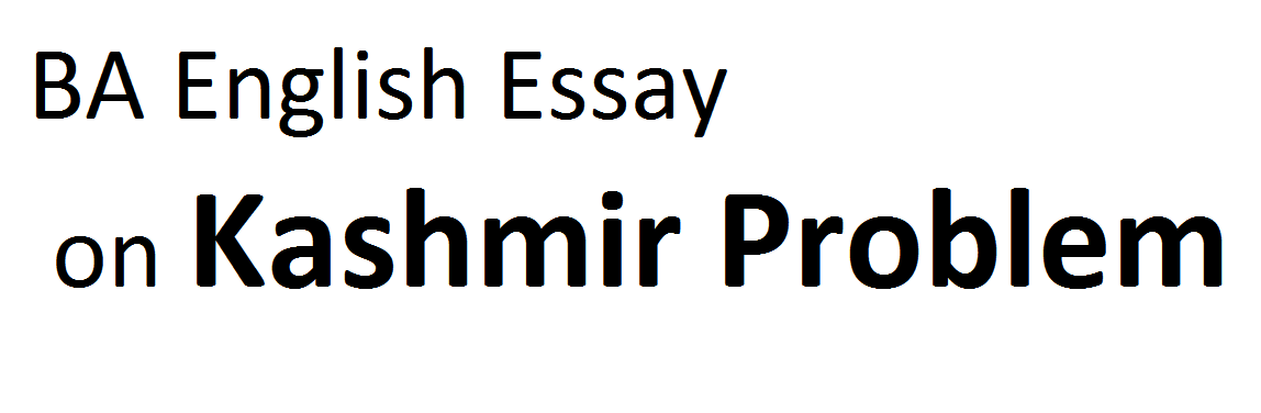 Essay on kashmir