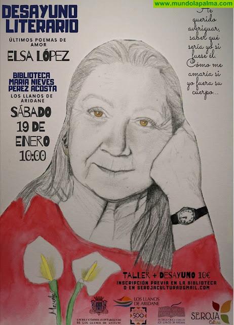 Desayuno literario del Sábado con Elsa López y sus 'últimos poemas de amor'
