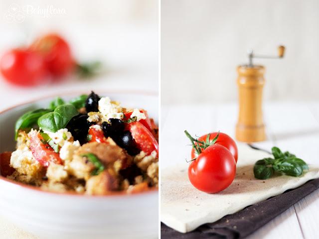 Geackener Brotsalat mit Feta und Tomaten