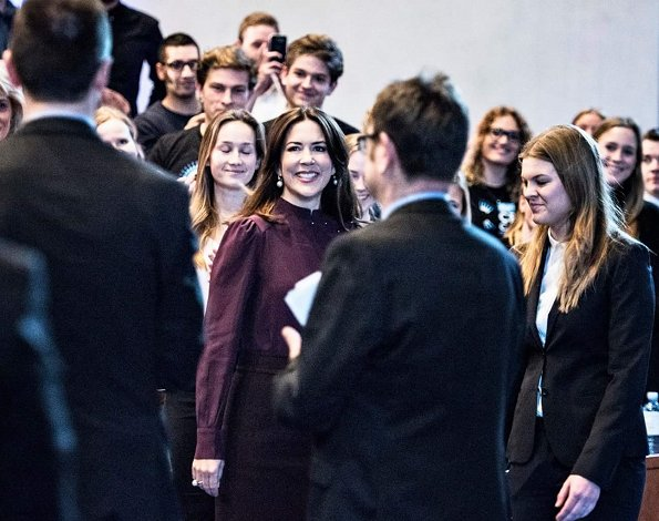 Princess Mary at CBS-Case Competition panel about 'Opportunities in Crisis' held at Copenhagen Business School