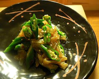 オクラと中華クラゲの和え物