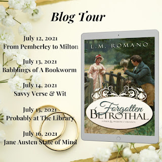 Blog tour for Forgotten Betrothal by L M Romano