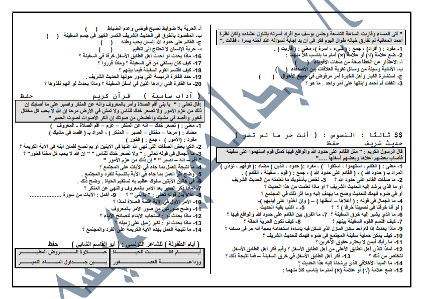 مراجعة ليلة الامتحان فى اللغة العربية للصف السادس الابتدائى 8 ورقات لن يخلووو منهم امتحان اخر العام 001%2B%25285%2529