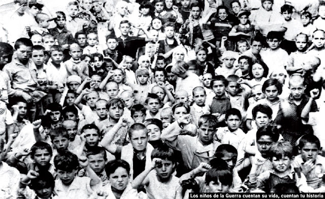 Imagen de la exposición sobre los niños de la Guerra Civil evacuados al extranjero