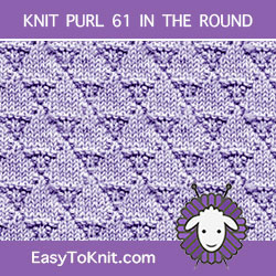 Scales Knit Purl, easy to knit in the round