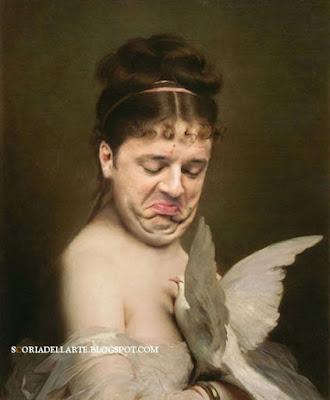 Matteo Renzi nei dipinti classici-Matteo Renzi e la colomba, di Charles Chaplin