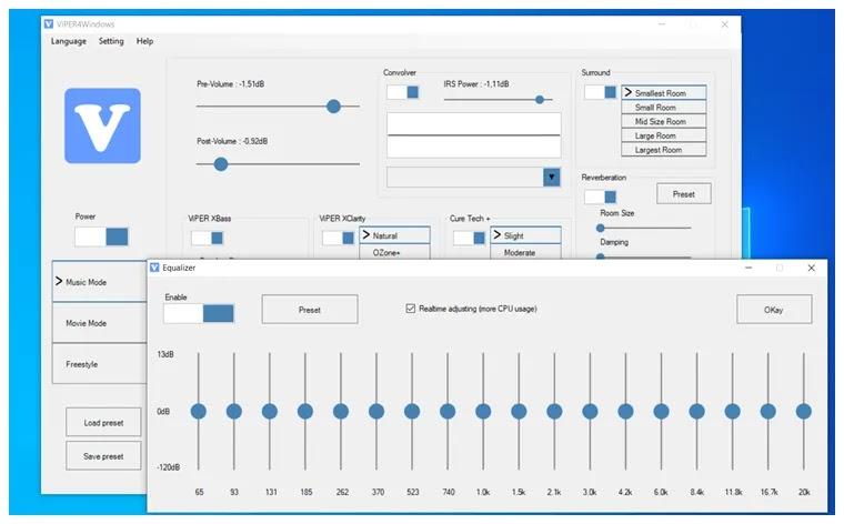 ViPER4Windows : Βελτιώστε τον  ήχο στα Windows
