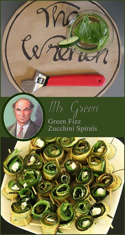 Mr Green Zucchini spirals, with mint and cucumber infusion