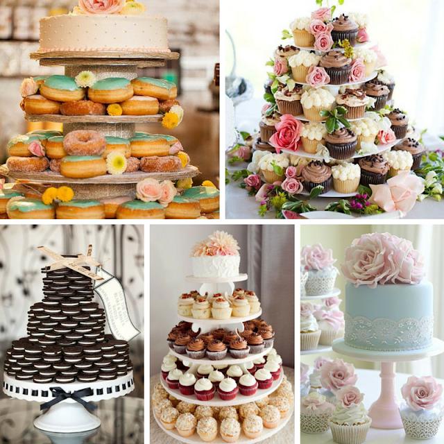 Bolos feitos de pequenos bolos individuais