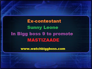 Ex-contestant Sunny Leone In Bigg boss 9 to promote MASTIZAADE