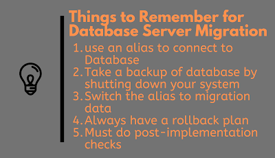 10 Things to Remember while doing Database Server Migration