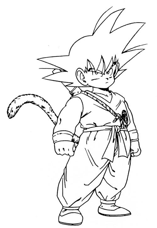 Son Goku Kid Coloring Pages Cartoon Dragon Ball