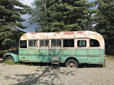 "The ""Into the Wild"" Bus at the 49th State Brewing Company"