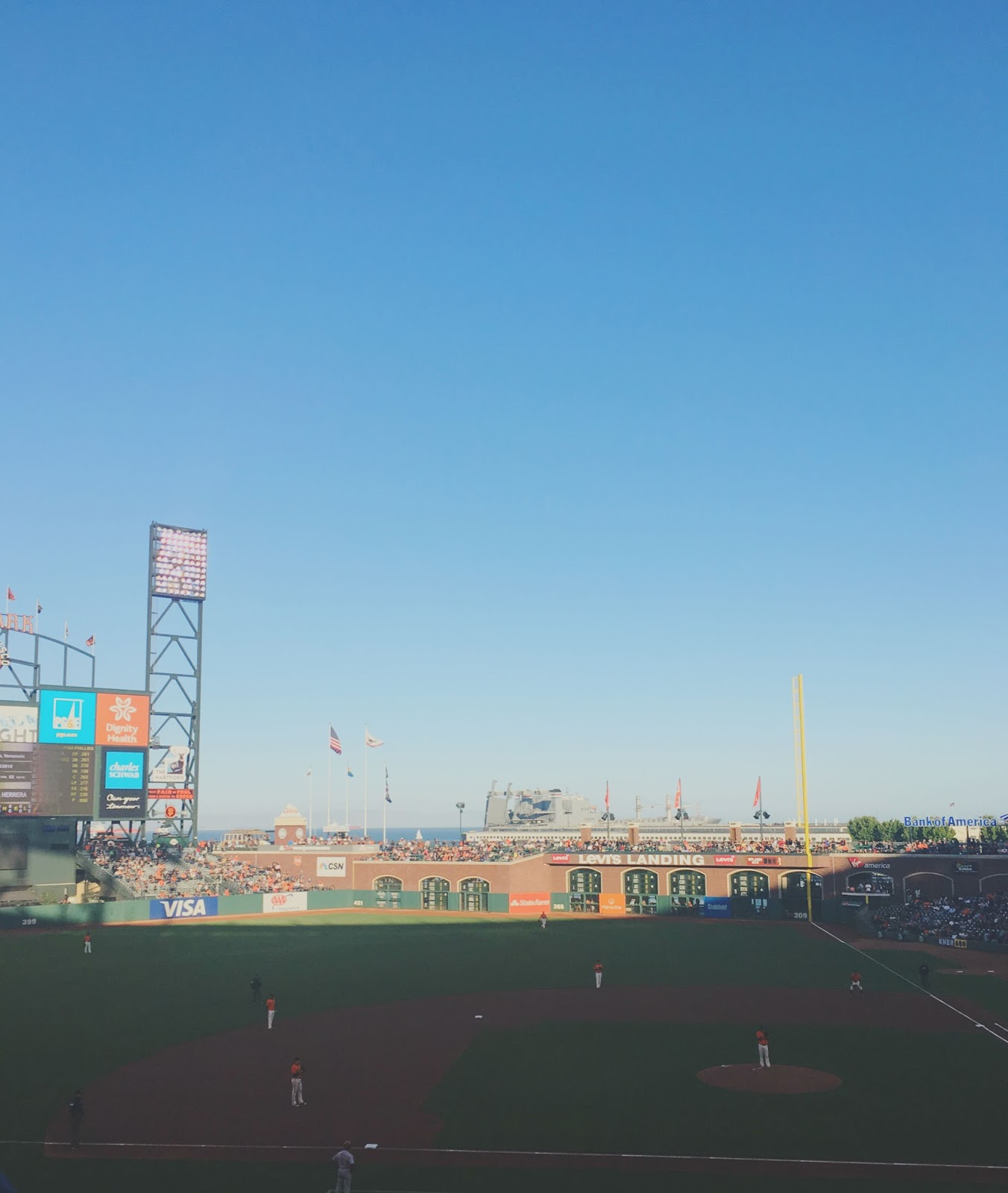 AT&T Park - the baseball stadium in San Francisco, California