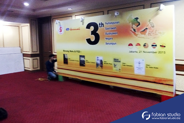 Backdrop Acara FGD