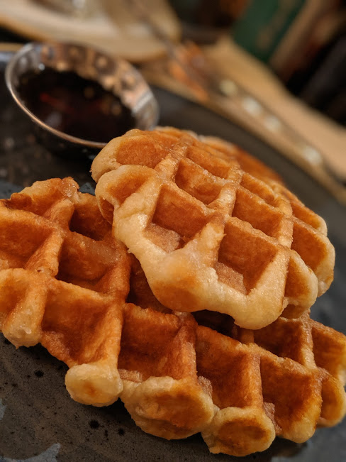 All Bar One Newcastle Brunch Review - waffles and syrup
