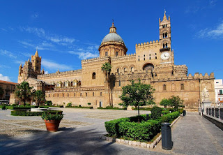 Palermo's magnificent cathedral has a classic Sicilian mix of  architectural influences from Europe and the Arab world