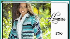 Patrones crochet de saco de dama estilo folk