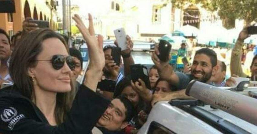 ANGELINA JOLIE EN PERÚ: Actriz estadounidense visita a migrantes venezolanos en Tumbes