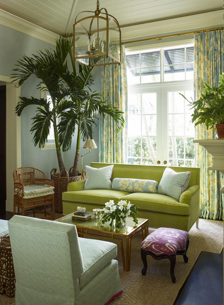 inspiracion-greenery-pantone-sofa-verde-decoracion-clasica