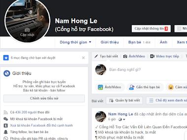 Dịch vụ Facebook Nam Hong Le - tăng người theo dõi tạo uy tín cá nhân - Zalo: 0983.923.431