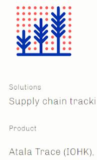 Cardano product Atala Trace (IOHK) for Agriculture  Image