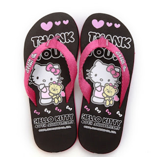 Sandal Lucu Karakter Hello Kitty Unik