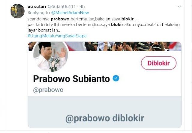 Akun UU Lestari VS Prabowo