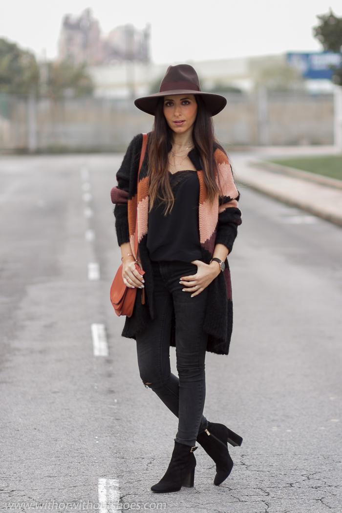 BLogger influencer de moda valenciana con ideas practicas para vestir en invierno y combinar sombrero
