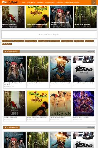 Blogger Template Piki Movie