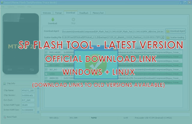 SP Flash Tool download Latest version - {Windows/Linus}