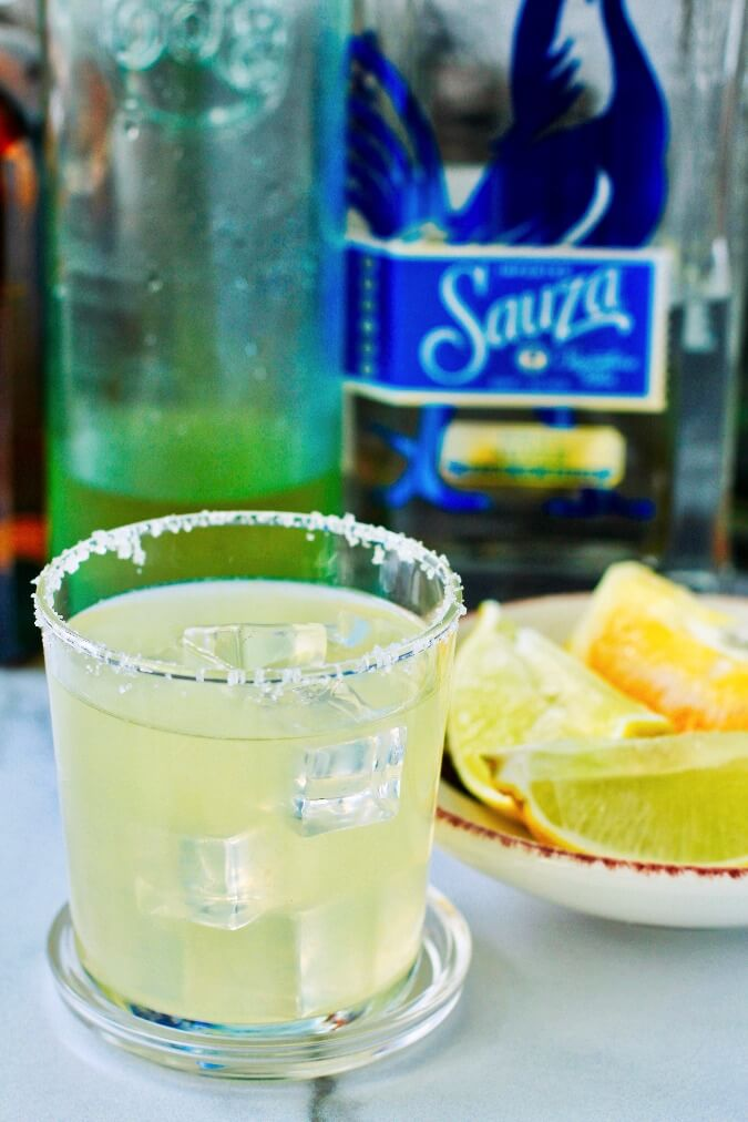 Limoncello Margarita on the rocks