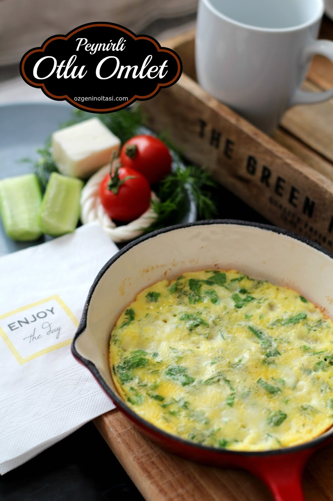 Ispanak ve beyaz peynirli omlet tarifi