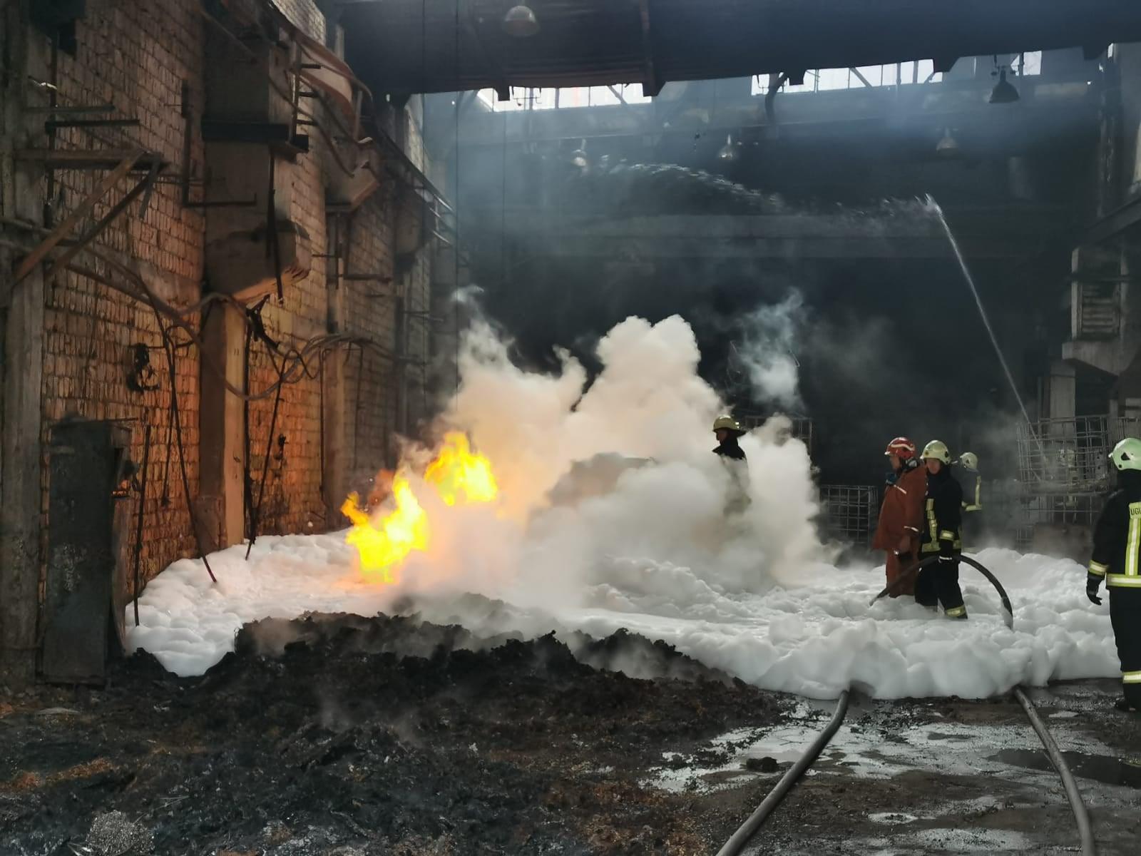 Titāna skaidu ugunsgrēks