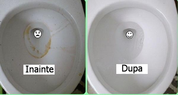 curata vasul de toaleta simplu