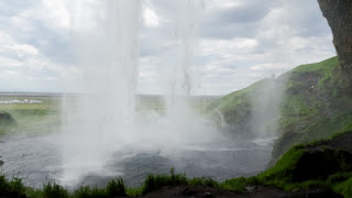 Pandemic in Iceland waterfall