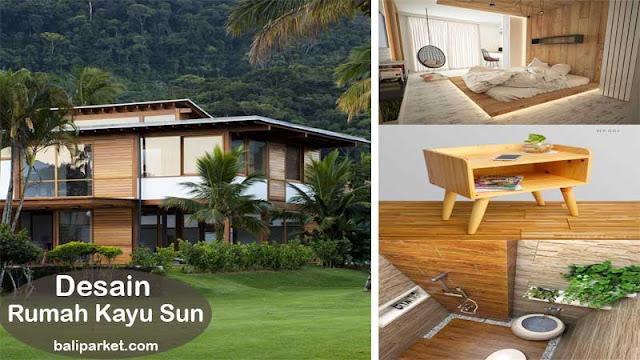 desain rumah kayu sun
