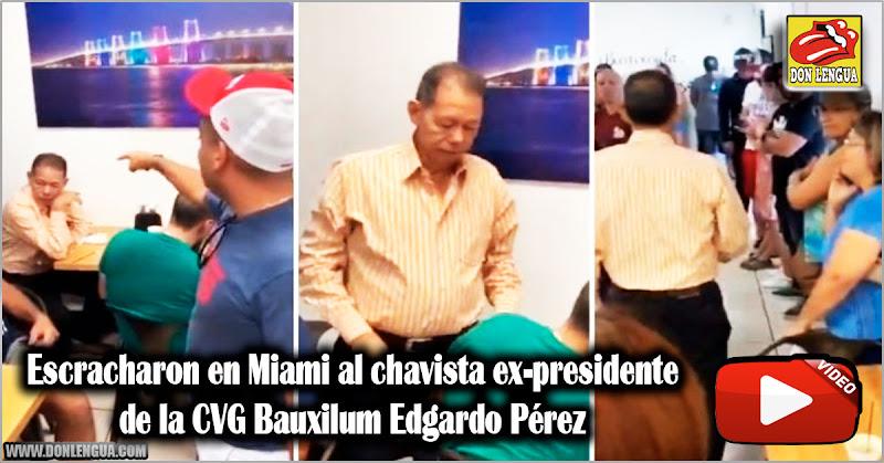 Escracharon en Miami al chavista ex-presidente de la CVG Bauxilum Edgardo Pérez