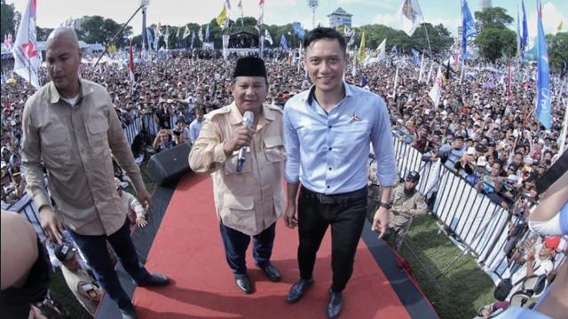 Tepis 'Gorengan' Koalisi Retak, AHY Tampil 'Trengginas' Menangkan Prabowo-Sandi