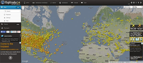 find position of particular aircraft anywhere in the world
