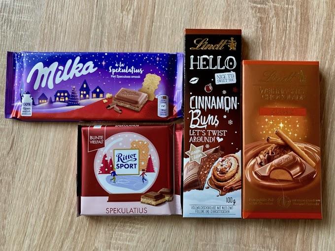 Der große Weihnachts-Schokoladentest: Vier festliche Schokoladen im Vergleich