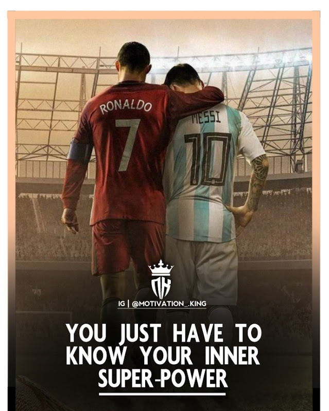 Ronaldo Messi attitude pictures with quotes in english
