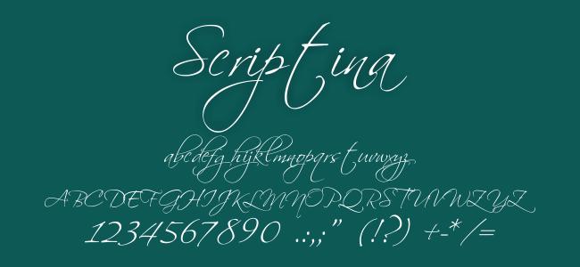 Kumpulan Font Undangan- Scriptina Font
