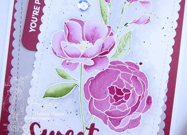 Heather's Hobbie Haven - No Line Watercolor - My Favorite Things - Fresh Cut Flowers - Card 2