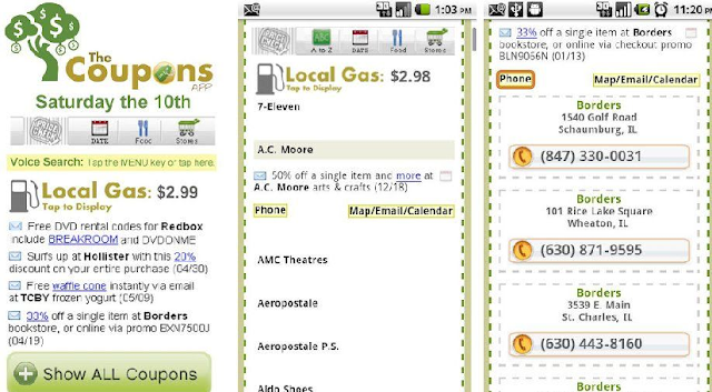 Aplicativo de cupons The Coupons App em Las Vegas