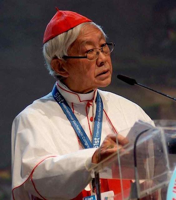 O Cardeal Zen fala sobre as perseguições no Congresso Eucarístico de Cebú, Filipinas, em 16-01-2016.