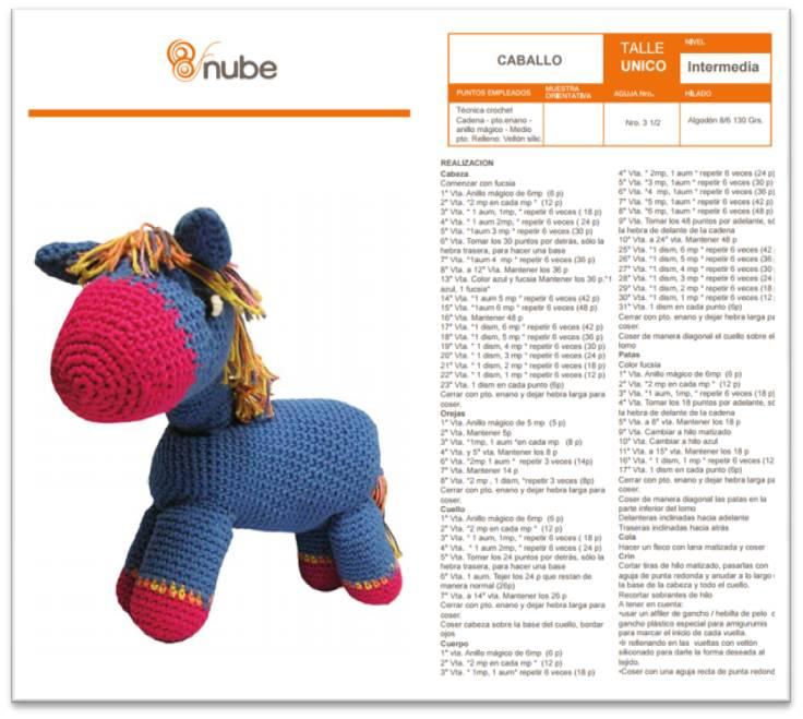 Tejiendo Crochet: Caballito amigurumi