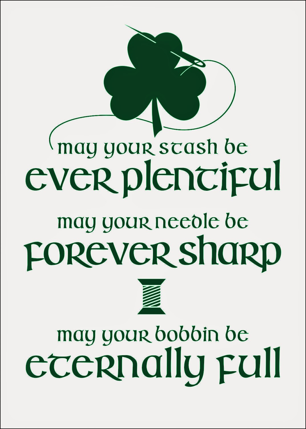 graphic relating to Printable Irish Blessing named The Influenced Wren: Absolutely free Printable: [Fabricated] Irish Sewing