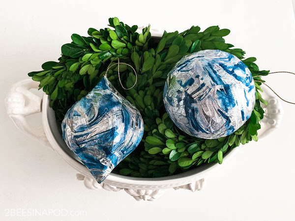 watercolor napkin ornaments