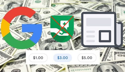 Google has abandoned the tipping feature to donate money to sites